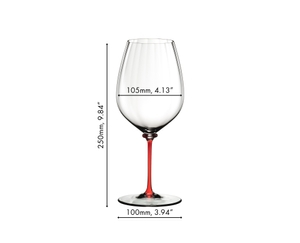 Sample packaging of a RIEDEL Fatto A Mano Performance Cabernet Sauvignon Red single pack.