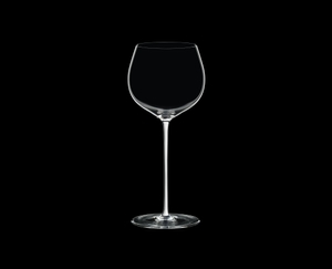 RIEDEL Fatto A Mano Oaked Chardonnay White on a black background