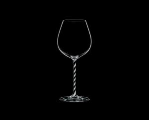 RIEDEL Fatto A Mano Pinot Noir Black & White R.Q. on a black background