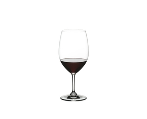 RIEDEL Restaurant Cabernet/Merlot filled with a drink on a white background