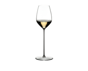 RIEDEL Max Restaurant Riesling filled with a drink on a white background