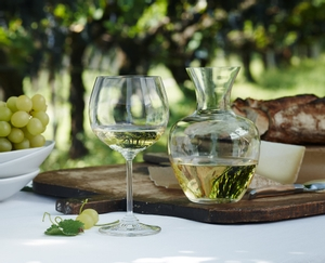 RIEDEL Decanter Apple NY in use