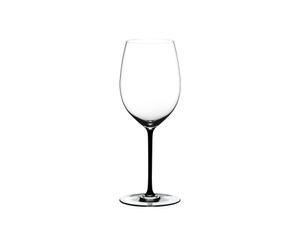 RIEDEL Fatto A Mano Cabernet/Merlot Black R.Q. on a white background