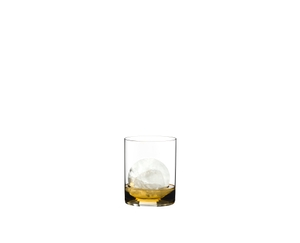 RIEDEL O Wine Tumbler Whisky filled with a drink on a white background