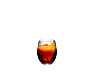 RIEDEL Tumbler Collection Optical O Long Drink filled with a drink on a white background