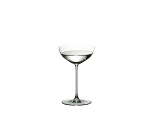 RIEDEL Veritas Restaurant Coupe/Cocktail filled with a drink on a white background