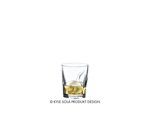 RIEDEL Tumbler Collection Louis Whisky filled with a drink on a white background
