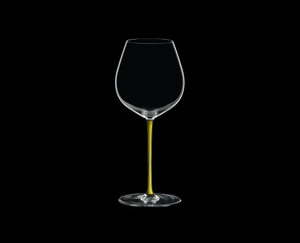 RIEDEL Fatto A Mano Pinot Noir Yellow on a black background