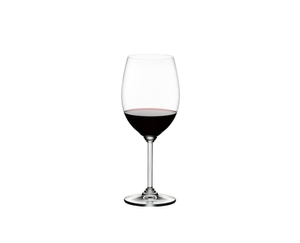 RIEDEL Wine Cabernet/Merlot filled with a drink on a white background