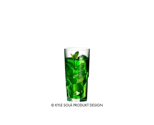RIEDEL Tumbler Collection Louis Long Drink filled with a drink on a white background