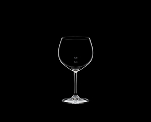 RIEDEL Restaurant Oaked Chardonnay Pour Line CE on a black background