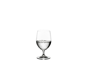 RIEDEL Ouverture Water filled with a drink on a white background