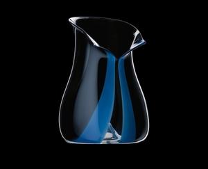 RIEDEL Champagne Cooler Black Tie Blue on a black background