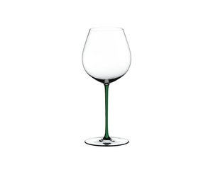 RIEDEL Fatto A Mano Pinot Noir Green R.Q. on a white background