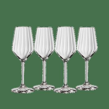 SPIEGELAU LifeStyle Champagne Glass Set on a white background