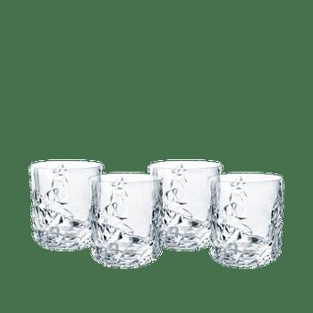 NACHTMANN Sculpture Whiskybecher Set/4 auf weißem Hintergrund