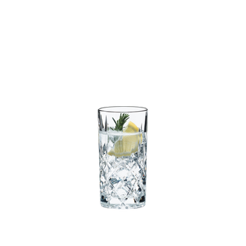 RIEDEL Tumbler Collection Spey Long Drink filled with a drink on a white background