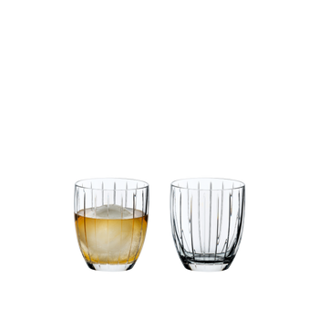 RIEDEL Sunshine Tumbler filled with a drink on a white background