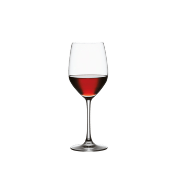 SPIEGELAU Vino Grande Red Wine filled with a drink on a white background