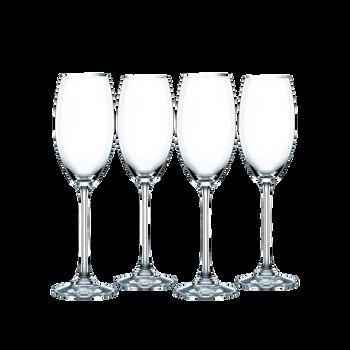 4 unfilled Nachtmann Vivendi Champagne Flutes