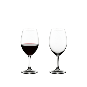 RIEDEL Ouverture Red Wine filled with a drink on a white background