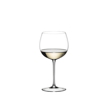 RIEDEL Sommeliers Montrachet filled with a drink on a white background