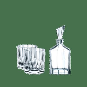 NACHTMANN Aspen Whisky Set 2er-Set + Dekanter auf weißem Hintergrund