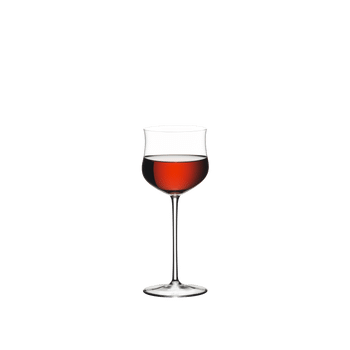 RIEDEL Sommeliers Rosé filled with a drink on a white background