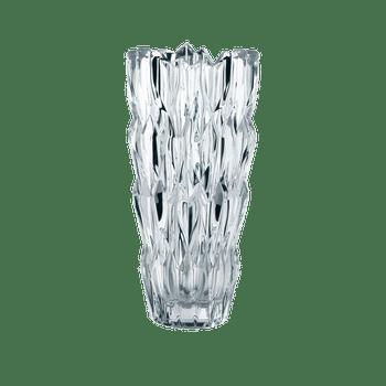 NACHTMANN Quartz Vase (26 cm, 10 1/4 in) on a white background