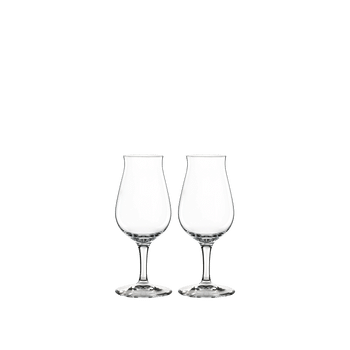 Two unfilled SPIEGELAU Special Glasses Whisky Snifter side by side