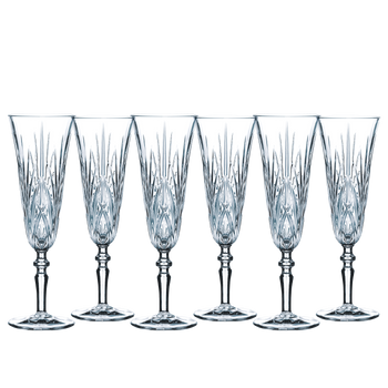 6 unfilled NACHTMANN Palais Taper Champagne Glasses