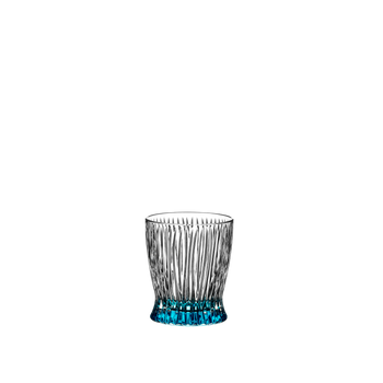RIEDEL Tumbler Collection Fire Whisky Baby Blue on a white background