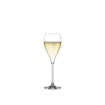 SPIEGELAU Party Champagne filled with a drink on a white background