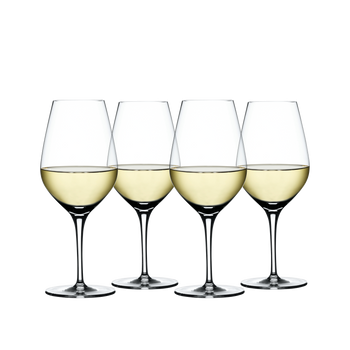 SPIEGELAU Authentis White Wine filled with a drink on a white background