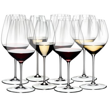 Special Offer - RIEDEL Performance Tasting Set filled with a drink on a white background
