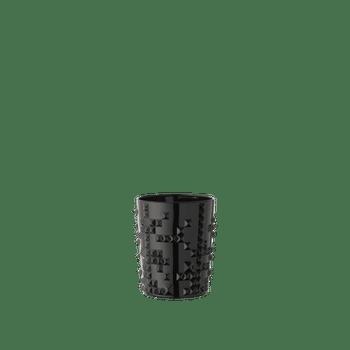 NACHTMANN Punk Whisky Tumbler Jet-Black on a white background