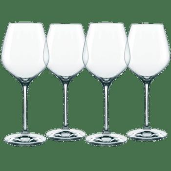 NACHTMANN Supreme Burgundy Glass on a white background
