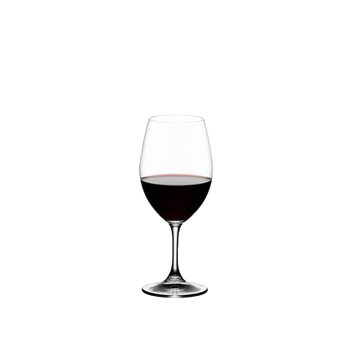 RIEDEL Ouverture Restaurant Red Wine filled with a drink on a white background