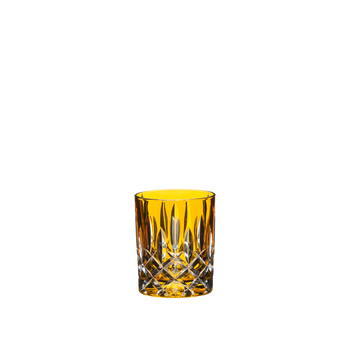 An unfilled RIEDEL Laudon Amber tumbler on white background