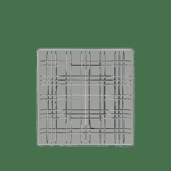 NACHTMANN Square platter Smoke on a white background