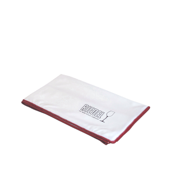 RIEDEL Microfibre Polishing Cloth filled with a drink on a white background