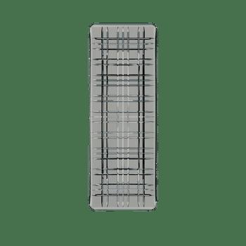 NACHTMANN Square Plate Rectangular Smoke on a white background