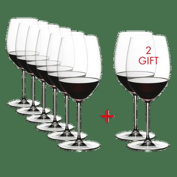 RIEDEL Veritas Cabernet/Merlot Pay 6 Get 8