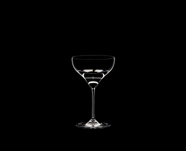 RIEDEL Grape@RIEDEL Martini filled with a drink on a black background
