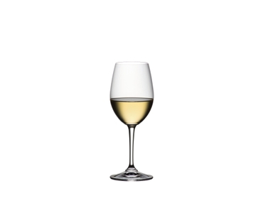 RIEDEL Degustazione White Wine filled with a drink on a white background