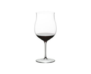 RIEDEL Sommeliers Restaurant Burgundy Grand Cru filled with a drink on a white background