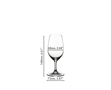 A RIEDEL Vinum Port glass filled with port wine on white background