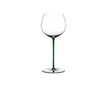 RIEDEL Fatto A Mano Chardonnay (im Fass gereift) Grün R.Q. auf weißem Hintergrund