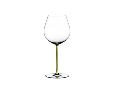 RIEDEL Fatto A Mano Pinot Noir Yellow on a white background