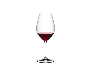 RIEDEL 002 Glass filled with a drink on a white background